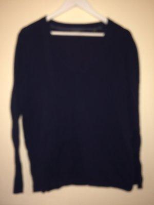 Schöner dunkelblauer Pulli - V-Ausschnitt - TOP - 80% Baumwolle - Gr. 48/50