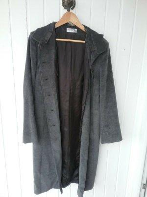 Schöner Dunkelgrauer Mantel von Monari Gr. 38, abnehmbare Kapuze