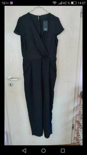 Schöner edler schwarzer Jumpsuit von Mango Größe L - neu