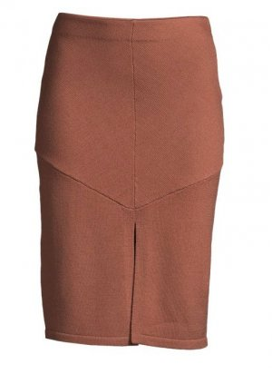 Lawrence Grey Knitted Skirt bronze-colored wool