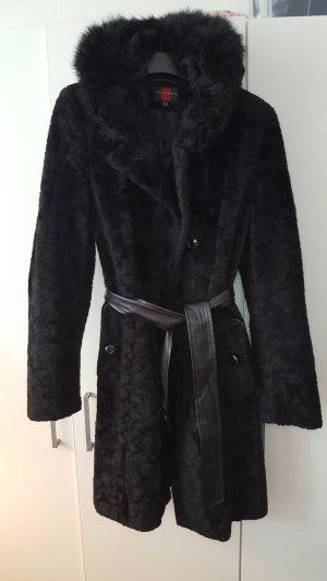 Dress Gallery Cappotto in eco pelliccia nero