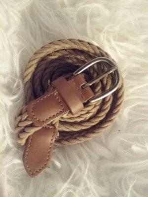 Cintura intrecciata marrone chiaro-cognac Cupro