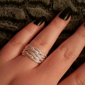 Ring silver-colored