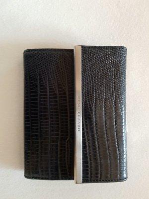 Schöner Geldbeutel von René Lezard aus feinem Krokoleder schwarz.
