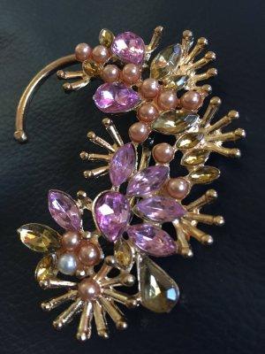 Schöner Gold Ohrring mit Rosa Stein