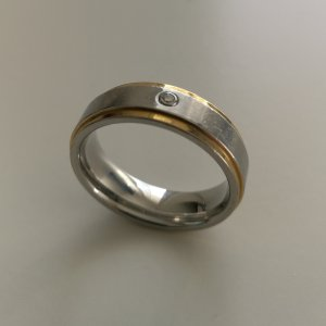 ❤️ schöner Goldring aus Stirling Silber