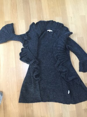 Knitted Coat anthracite mixture fibre