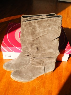 Akira High Boots grey suede