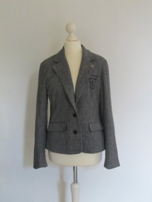 Wool Blazer silver-colored-black