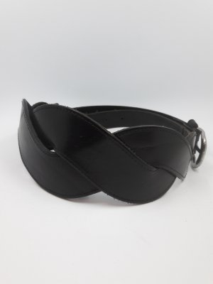 Waist Belt black-silver-colored leather