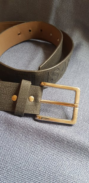 Elisabetta Franchi Faux Leather Belt dark grey-anthracite