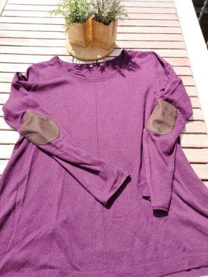 H&M Maglione di lana marrone-nero