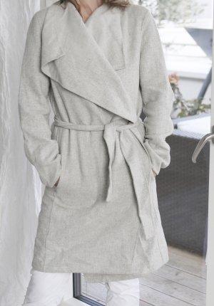 Zara Manteau en laine argenté laine
