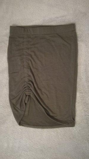 H&M Falda de punto gris