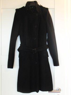 Drykorn Wollen jas zwart Wol