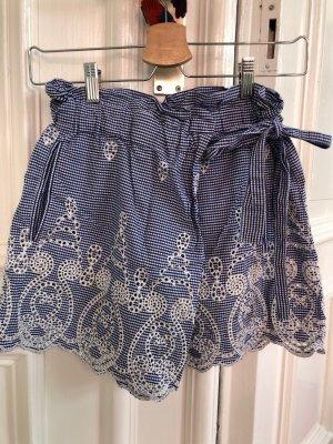 Zara Falda pantalón azul celeste