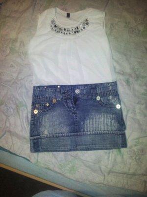 Schöner Jeans-Minirock mit Waschung von Fishbone