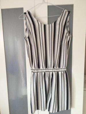 Vestido cut out blanco-color plata