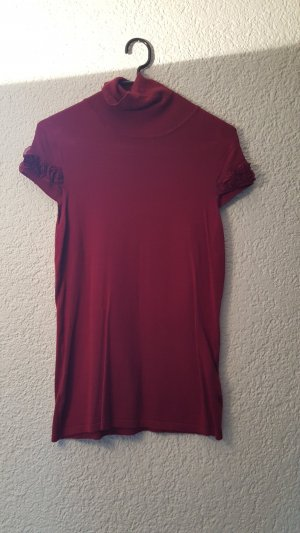 Orsay Turtleneck Shirt dark red viscose