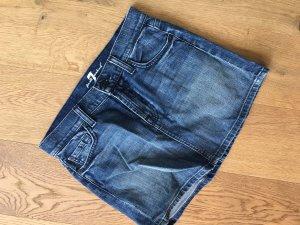 7 For All Mankind Denim Skirt dark blue