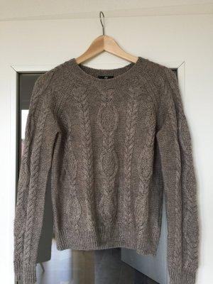 Schöner kuschliger Strickpullover von H&M in Grau