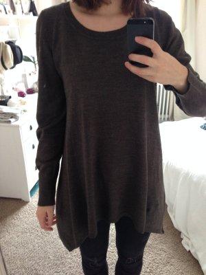 Schöner, langer pullover in braun von h&m in gr. M