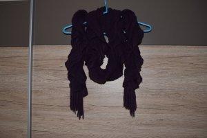 Écharpe en crochet multicolore laine