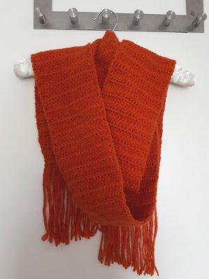 Écharpe en tricot orange foncé-orange
