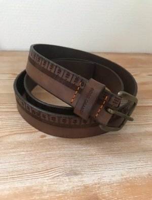 Boss Orange Ceinture en cuir brun cuir