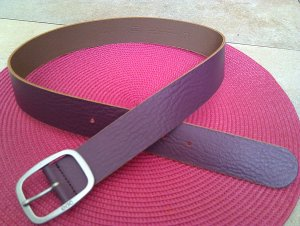 Esprit Leather Belt lilac-silver-colored leather