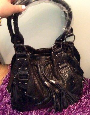 Schöner Lederhandtasche neu mit Fransen