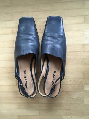 More & More Slippers dark blue leather