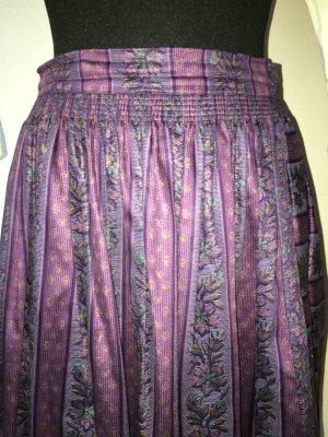 Folkloristische rok donkerpaars-grijs-paars