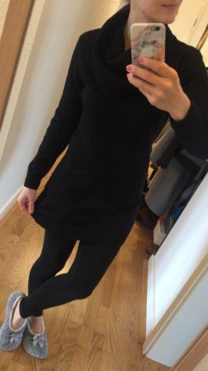Schöner long Pullover in schwarz mit breitem Kragen (neu)