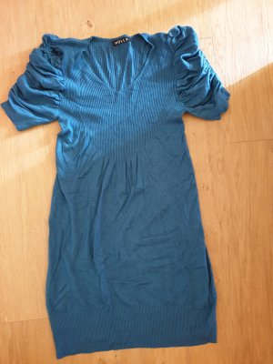 Jersey largo petróleo tejido mezclado