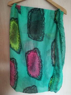 Scaldacollo turchese-verde neon
