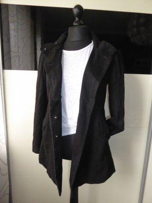 Schöner Mantel (ähnl. Cabanmantnel) für den Herbst - Gr. 42/L von H&M - schwarz