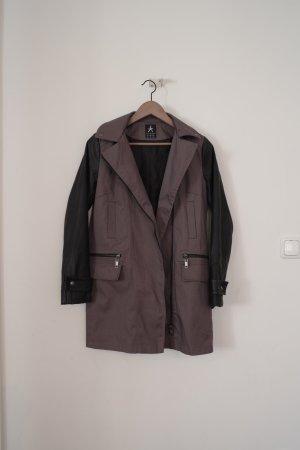 Primark Manteau à capuche noir-gris foncé