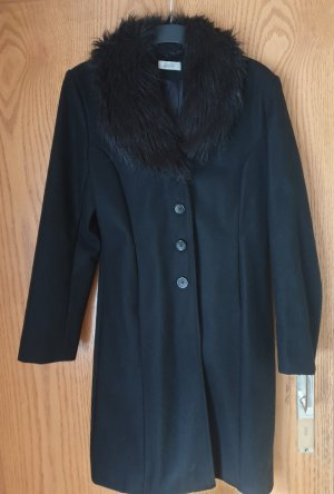 Pimkie Abrigo de piel sintética negro