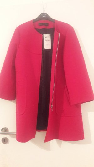 Zara Manteau court rouge lycra