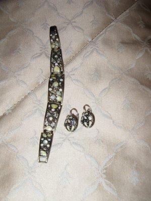 Schöner Modeschmuck Set: Ohrringe+ Armband in Elfenbein