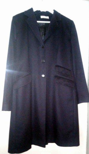 Schöner nachtblauer italienischer Mantel Wolle Kaschmir, passt etwa Gr. 42
