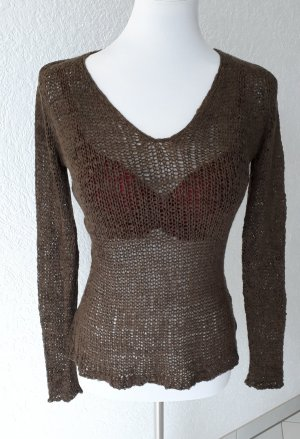 Tally Weijl Coarse Knitted Sweater black brown
