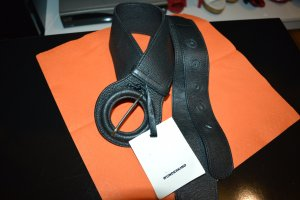 Schöner Neuer wunderkind Leder Gürtel breit schwarz