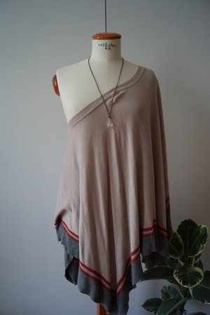Best Connections Knitted Poncho light brown-nude