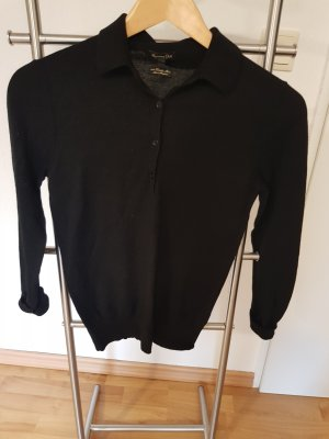 Schöner Pullover aus Extrafeinem Merino von Massimo Dutti Farbe Schwarz