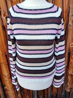 Schöner Pullover gestreift 40% Viskose Gr. S 36 neu