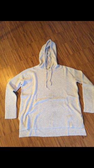 Schöner Pullover, Kapuzenpullover, Hoodie Strick, von OPUS, hellgrau, Gr 40