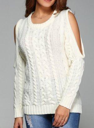 Schöner Pullover mit Cut-Outs