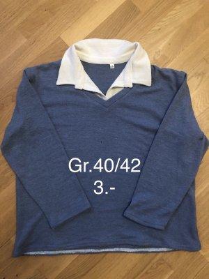Schöner Pullover mit integrierter Bluse Gr.40/42 nur 3.-